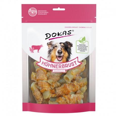 Dokas skanėstai šunims - jaučio oda, apvyniota vištiena, 250 g