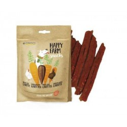 Happy Farm skanėstai šunims su vištiena ir morkomis, 80 g