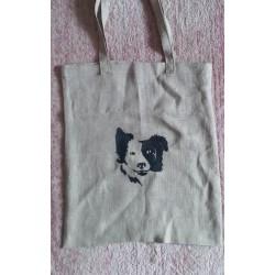 """Lininis pirkinių maišelis """"Borderkolis"""", 35x40 cm"""