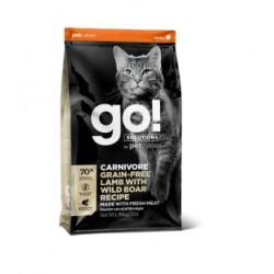 Go! Solutions carnivore begrūdis pašaras suaugusioms katėms ir kačiukams su ėriena ir šerniena, 7,3 kg