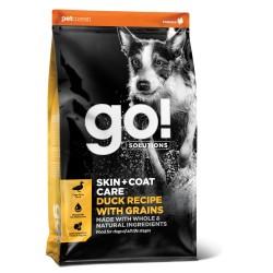 Go! Solutions skin & coat care pašaras suaugusiems šunims ir šuniukams su antiena ir sveikais grūdais, 11,4 kg