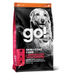 Go! Solutions skin & coat care pašaras suaugusiems šunims ir šuniukams su ėriena, 11,4 kg