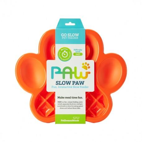 Lėto valgymo dubenėlis šunims PAW Slow Feeder Orange
