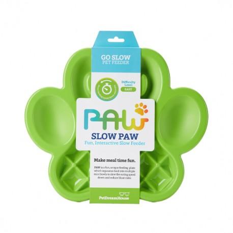 Lėto valgymo dubenėlis šunims PAW Slow Feeder Green