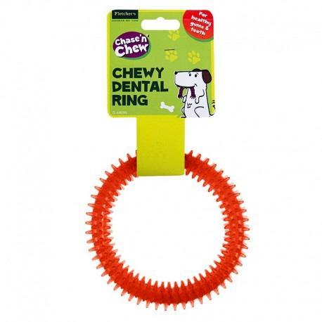 Žaislas šuniui iš patvarios gumos-žiedas, 15cm x 15cm x 2.5cm