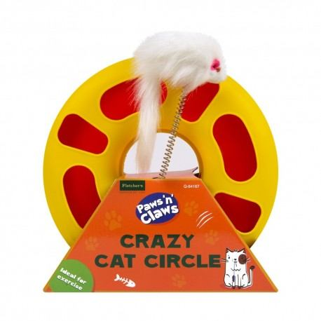 "Žaislas katei ""Crazy Cat Circle"", 23x7 cm"