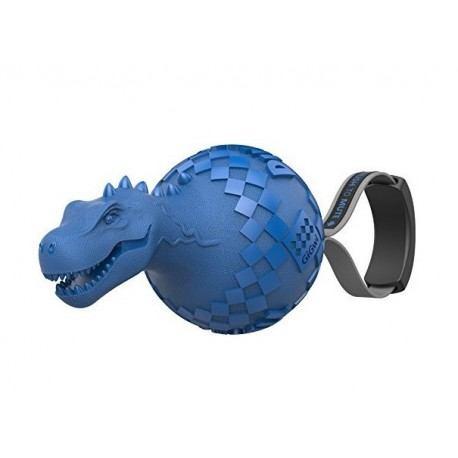 Žaislas šunims GiGwi Push To Mute Dinoball, mėlynas