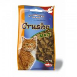 Crushy Malt traškūs skanėstai katėms su Malt pasta, 50 g