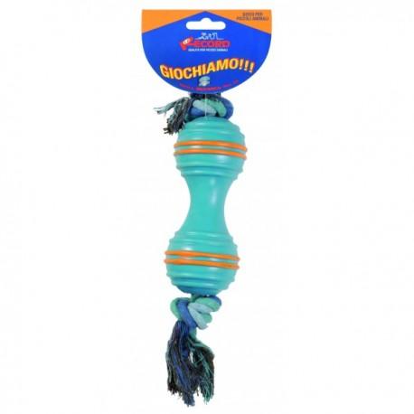 Guminis žaislas šuniui su virve, 35 cm