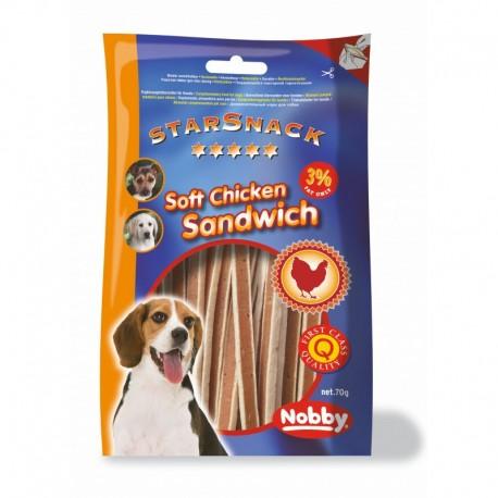 "StarSnack Soft Chicken Sandwich minkšti skanėstai vištienos ,,sumuštinukai"" 70 g"