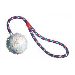 Šuns žaislas - kamuoliukas su virve