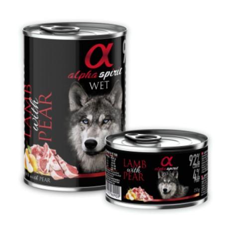 Alpha Spirit konservai šunims su ėriena ir kriaušėmis, 400 g